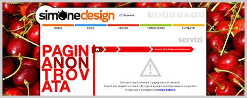 Errore 404 SimoneDesign