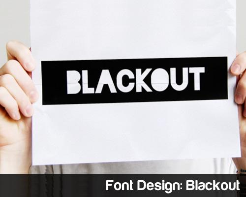 Font Design Blackout