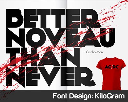 Font Design KiloGram