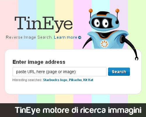 TinEye motore di ricerca inversa per immagini