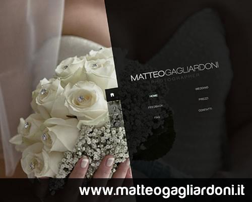 Realizzazione sito Matteo Gagliardoni photographer