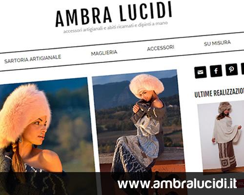 Realizzazione sito Ambra Lucidi