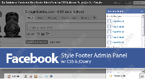 Facebook Style Footer