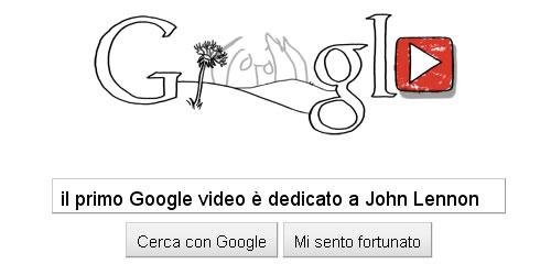 Il primo Google Video è dedicato a John Lennon