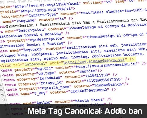Meta Tag Canonical Addio Ban