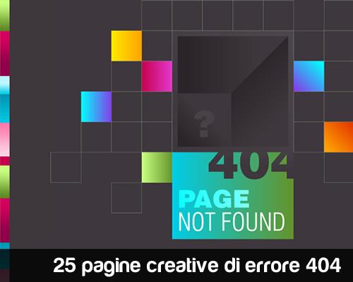 25 pagine creative di errore 404