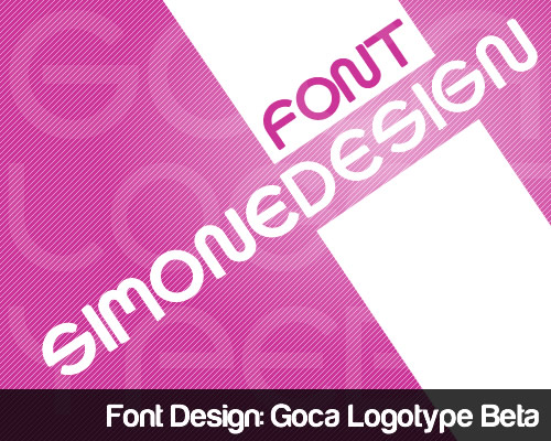 Font Design Goca Logotype