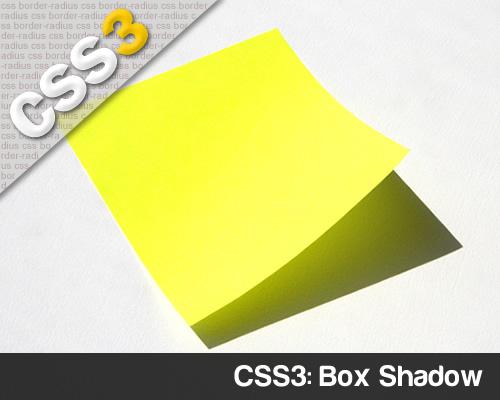 CSS3 Box Shadow ombreggiatura