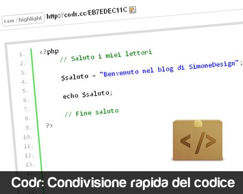 Codr - Condivisione Rapida del Codice