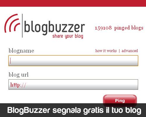 BlogBuzzer segnala il tuo blog in 18 directory