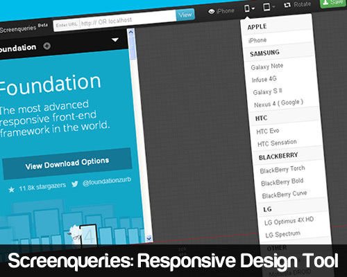 Screenqueri.es Responsive Design Tool